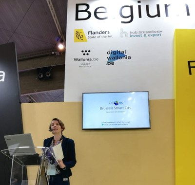 the Brussels-Capital Region was represented by Smart City Manager Céline Vanderborght
